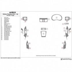 Накладки салона под дерево, карбон, алюминий для Subaru Forester 2014-UP. Комплект R910.