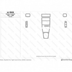 Накладки салона под дерево, карбон, алюминий для Subaru Forester 1997-1999. Комплект R929.