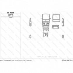 Накладки салона под дерево, карбон, алюминий для Lexus Is 1999-Up. Комплект R938.