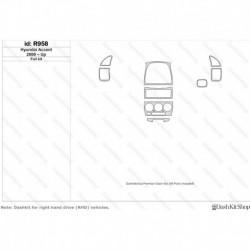 Накладки салона под дерево, карбон, алюминий для Hyundai Accent 2000-Up. Комплект R958.