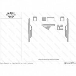 Накладки салона под дерево, карбон, алюминий для Citroen Dispatch 2000-Up. Комплект R991.