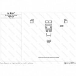Накладки салона под дерево, карбон, алюминий для Seat Ibiza 2000-Up. Комплект R997.