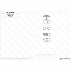 Накладки салона под дерево, карбон, алюминий для Mazda Demio 2000-Up. Комплект R1004.