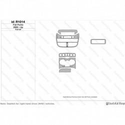 Накладки салона под дерево, карбон, алюминий для Fiat Punto 2000-Up. Комплект R1014.