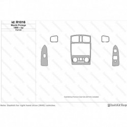 Накладки салона под дерево, карбон, алюминий для Mazda Protege 1999-Up. Комплект R1016.