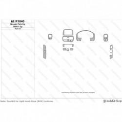 Накладки салона под дерево, карбон, алюминий для Nissan Pick Up 1999-Up. Комплект R1040.