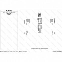 Накладки салона под дерево, карбон, алюминий для Land Rover Range Rover 2003-Up. Комплект R1076.