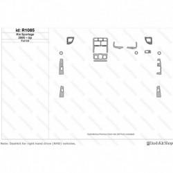 Накладки салона под дерево, карбон, алюминий для Kia Sportage 2005-Up. Комплект R1085.