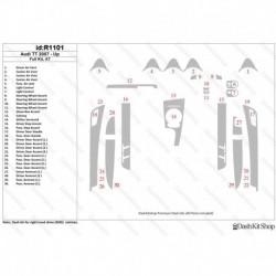 Накладки салона под дерево, карбон, алюминий для Audi TT 2007-Up. Комплект R1101.