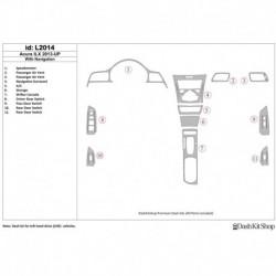 Накладки салона под дерево, карбон, алюминий для Acura ILX 2013-UP. Комплект L2014.