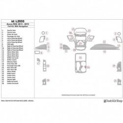 Накладки салона под дерево, карбон, алюминий для Acura RDX 2013-UP. Комплект L2033.