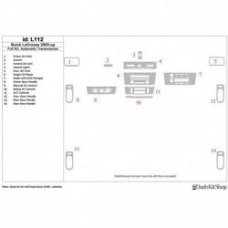 Накладки салона под дерево, карбон, алюминий для Buick LaCrosse 2005-UP. Комплект L112.