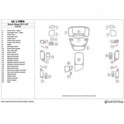 Накладки салона под дерево, карбон, алюминий для Buick Regal 2011-UP. Комплект L1964.
