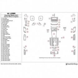 Накладки салона под дерево, карбон, алюминий для Chevrolet Malibu 2013-2013. Комплект L2080.