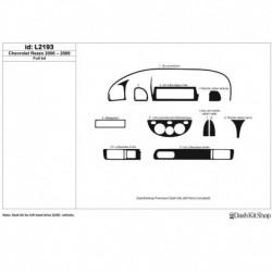Накладки салона под дерево, карбон, алюминий для Chevrolet Rezzo 2000-2009. Комплект L2193.