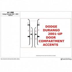 Накладки салона под дерево, карбон, алюминий для Dodge Durango 2001-2003. Комплект L368.