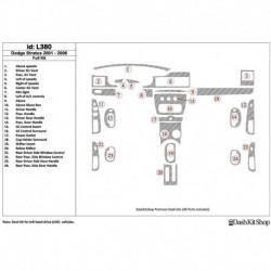 Накладки салона под дерево, карбон, алюминий для Dodge Stratus 2001-UP. Комплект L380.