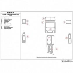 Накладки салона под дерево, карбон, алюминий для Dodge Challenger 2008-UP. Комплект L1928.