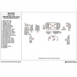 Накладки салона под дерево, карбон, алюминий для Ford F-150 2000-2003. Комплект L413.