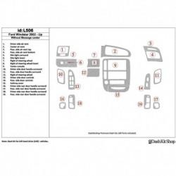 Накладки салона под дерево, карбон, алюминий для Ford Windstar 2002-UP. Комплект L506.